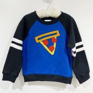 Hanna Andersson pizza sweatshirt top Sz 4 NWT